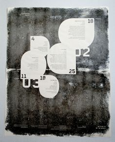 A typographic poster, made for typography class. Hand printed on paper.