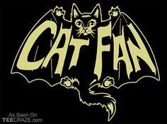 Cat Fan T-Shirt - http://teecraze.com/cat-fan-t-shirt/ -  Designed by TP