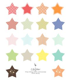 star ☆ 각양각색 패턴의 별 소스 (포토샵)