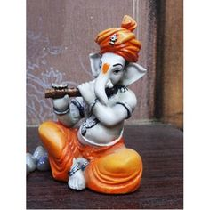 Fiber Handicrafts : Fiber Ganesha Playing Basuri