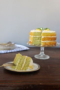Lemon and Cucumber Cake with Gin Icing | Veggie Desserts