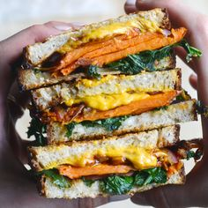 Vegan Balsamic Sweet Potato Grilled Cheese Sandwich - The Colorful Kitchen
