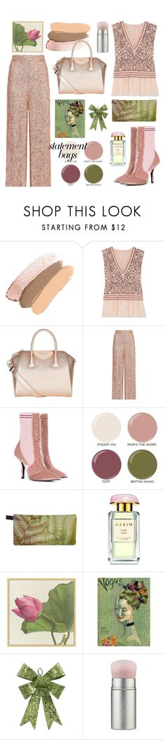 """Statement Bags"" by bysc ❤ liked on Polyvore featuring Ganni, Givenchy, Temperley London, Fendi, Butter London, AERIN, Pottery Barn and rms beauty"