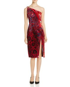 5557b615ab5af Elie Tahari Carter One Shoulder Velvet Dress - 100% Exclusive Women -  Bloomingdale s