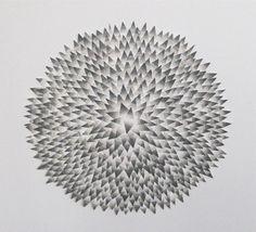 "Saatchi Online Artist: Sarah Kreiger; Woodcut, 2011, Printmaking ""Dog Ball 1"""