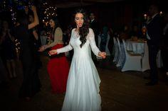 Wedding Dress Elegance for a Winter Wonderland, Scottish/Egyptian Celebration