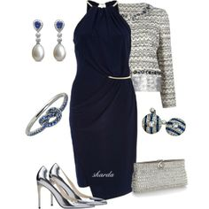 """bluesilver"" by gaitriesharda on Polyvore"