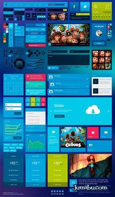 Photoshop Elementos para Diseño de Interfaz de Usuario | Jumabu! Design Tools - Vectorizados - Iconos - Vectores - Texturas