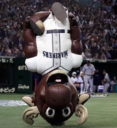 Just your average breakdancing mascot