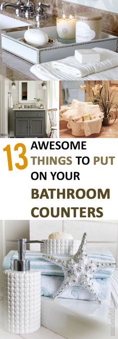 13 Awesome Things to Put on Your Bathroom Counters