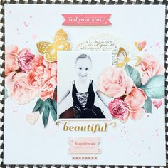 Beautiful layout by Amanda Baldwin featuring Pink Paislee Moonstruck collection for @paperissues