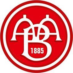 AaB Fodbold (AaB / Aalborg BK / Aalborg Boldspilklub)   Country: Danmark / Denmark. País: Dinamarca   Founded/Fundado: 1885/05/13   Badge/Crest/Logo/Escudo.