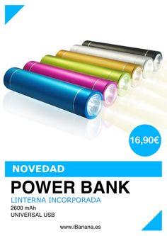 Producto: Os presentamos una nueva novedad en POWER BANK (batería externa para tu SmartPhone) con LINTERNA