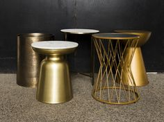 The Marble and Gold Cluster can create a tiered coffee table effect or a more economical way to add side tables to your lounge. Cluster includes up to 5 tables. Marble, Lounge, Canning, Gold, Home Decor, Airport Lounge, Drawing Rooms, Decoration Home, Room Decor