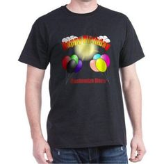 Cafepress Personalized Happy Birthday Dark T-Shirt, Size: 2XLarge Tall (+$3.00), Black