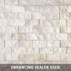 Pearl Stacked Stone Brick Marble Mosaic - 11 x 12 - 932100197 Stacked Stone, Marble Mosaic Floor, Fireplace Tile Surround, Stacked Stone Backsplash, Brick And Stone, Marble Mosaic, Stone Backsplash Kitchen, White Stone Backsplash, Brick Paneling