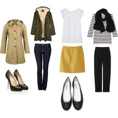 Easy: all basics, neutrals, in the best possible quality. For inspiration, try Ludivine on W. 4th, APC, Club Monaco