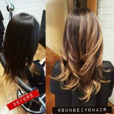 Beautiful sunkissed transformation asian hair