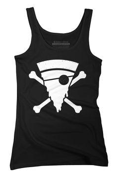 Pizza Pirate Womens Tank Top