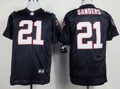 NFL Atlanta Falcons #21 SANDERS BLACK ELITE JERSEY SP