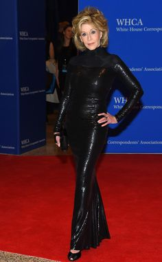 this woman is 77 years old.      Jane Fonda from 2015 White House Correspondents' Dinner: