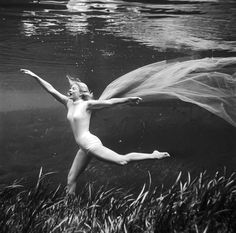 "1950s Bruce Mozert's Shots Of Stuntwoman Ginger Stanley Will. Shot for ""The Creature from the Black Lagoon"" movie in Silver Springs, Florida."