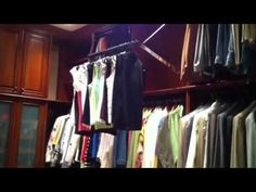 Automated Wardrobe Lift ; this is our standard motor driven clothes rail