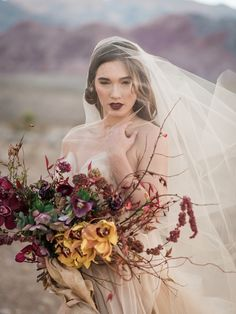 Fall Bride Desert Shoot Blossom Bride