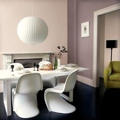 Dulux Dusted Damson and Mellow Mocha