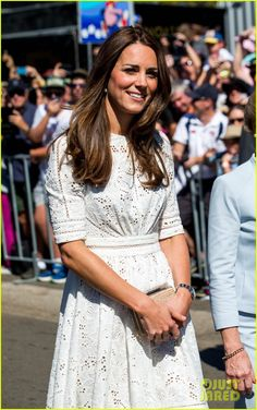 Kate, Duchess of Cambridge visits the Royal Easter Show on Friday (April 18) at Olympic Park in Sydney, Australia.
