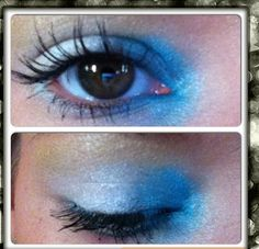 Blue and white eyeshadow