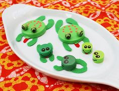 Bottle cap frogs..