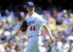 Dodgers' Hill seeks 'some kind of medical miracle' for blister  -  April 17, 2017:  Image:        April 16, 2017; Los Angeles, CA, USA; Los Angeles Dodgers starting pitcher Rich Hill (44) reacts after giving up a run on a walk against the Arizona Diamondbacks in the third inning at Dodger Stadium.