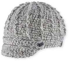 Pistil Women's Clara Knit Brimmed Beanie Hat. Soft chunky yarn with contrast threads. One size; Visor Beanie, Knit Beanie Hat, Cable Knit Hat, Cable Knitting, White Beanies, News Boy Hat, Winter Hats For Women, Hats Online, Brim Hat