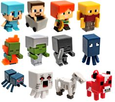 Minecraft Netherrack Series 3 Set of All 12 1 Mini Figures Lego Minecraft, Minecraft Party, Lego Moc, Minecraft Mini Figures, Minecraft Characters, Minecraft Crafts, Minecraft Houses, Minecraft Posters, Lego Lego