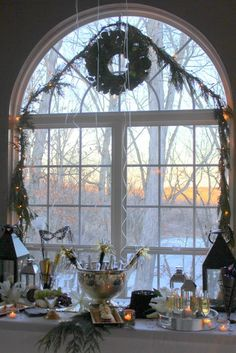 Pretty setting at a New Year's Eve party!  See more party ideas at CatchMyParty.com!  #partyideas #newyears