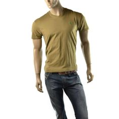 POLO Ralph Lauren T Shirt Mens V Neck Olive Classic Fit T Shirts Size S NEW #RalphLauren #BasicTee  | Get Dressed at http://ImageStudio714.com http://stores.ebay.com/ImageStudio714