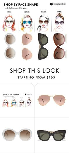 """""""Sunglasses~Shop By Face Shape"""" by hsldybg ❤ liked on Polyvore featuring Ray-Ban, Gucci, Victoria Beckham and Tom Ford"""