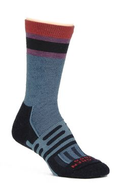 Dahlgren's Light Hiking Stripe socks are the most comfortable hiking socks, according to Outside's Gear Girl Stephanie Pearson. They are soft, help regulate temperature and minimize odors. $18.