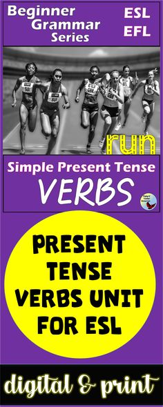 Spruce up your English Grammar Lessons with these Present Tense Verbs Activities.  These activities are geared toward older ESL Newcomers and ESL Beginners. #eslgrammarlessons #eslnewcomers #eslbeginners #esllessons Esl Grammar, Teaching English Grammar, Grammar Practice, English Grammar Worksheets, English Language Learners, Spanish Language Learning, Esl Lessons, Grammar Lessons, English Lessons