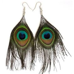 Handmade Peacock Feather Earrings ($3.04) ❤ liked on Polyvore featuring jewelry, earrings, peacock, accessories, peacock earrings, multicolor earrings, colorful earrings, boho jewelry and boho earrings