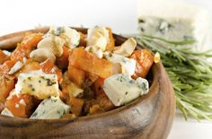 Roasted pumpkin and Gorgonzola When it comes to entertaining friends and family, we always want to bring the WOW factor to the dinner table but without turning into a frantic mess while we prepare the meal. This no fuss recipe is pe Gorgonzola Pasta, Sous Vide Vegetables, Hazelnut Recipes, Vegetarian Recipes, Cooking Recipes, Roast Pumpkin, Veggie Dishes, Side Dishes, Vegetable Sides