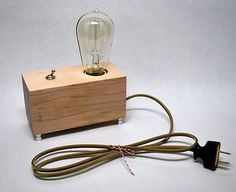 The Menlo Park Lamp Single Edison Bulb in Maple by TheDapperLlama, $85.00