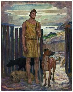 "Illustration from ""The Odyssey of Homer,"" translated by Charles Herbert Palmer (1929)"