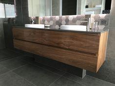 Messmate timber floating vanity Timber Vanity, Timber Furniture, Floating Vanity, Bathtub, Deco, Bathroom, House, Standing Bath, Washroom