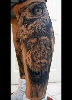 Tattoos - Black and Gray tattoos - Black and Gray Animal Portraits