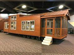 Modular Home, Park Model, Small House, Tiny House - Choose 8 models 16 x 32 Building A Tiny House, Tiny House Cabin, Tiny House Living, Tiny House On Wheels, Tiny House Design, Cabin Homes, Tiny Homes, Log Cabin Mobile Homes, Small Modular Homes