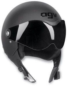 Black AGV Dragon Motorcycle Helmet