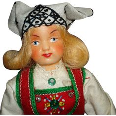 Hilda Ege Doll in Norwegian Voss Bunad .... Tagged, Norway.