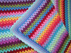 My first granny stripe blanket 11 | Tere Zeta | Flickr